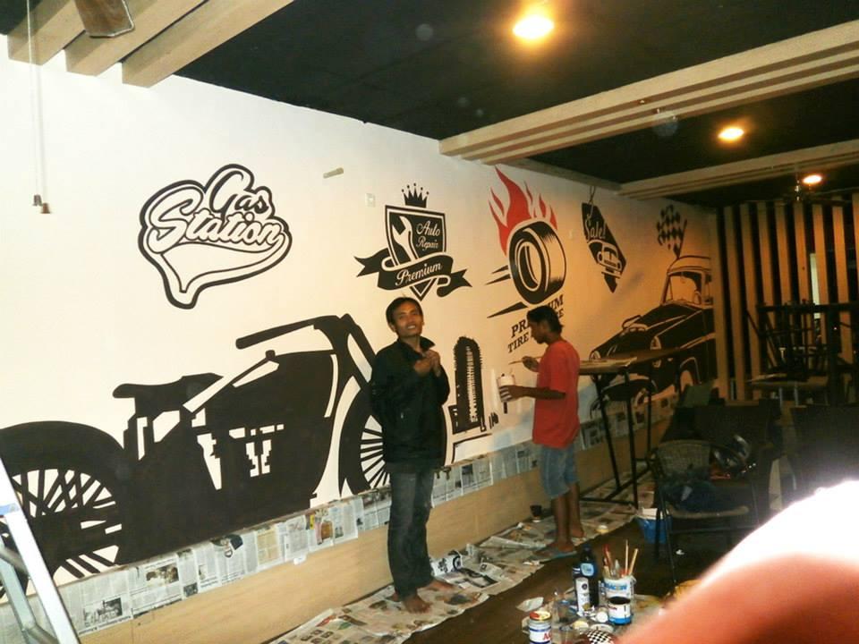 Javaartdesigns mural lukis dinding wall art dekorasi for Mural untuk cafe